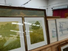 A PAIR OF SIGNED LIMITED EDITION PRINTS BY KENNETH LEECH TOGETHER WITH A PAIR OF LIMITED EDITION