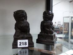 A PAIR OF CHINESE FOO DOGS.
