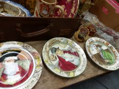 THREE DOULTON SERIESWARE PLATES AND OTHER CHINAWARES.