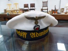 A GERMAN NAVEL CAP PROPORTING TO THE GRAFSPEE.