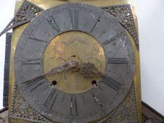 A BELGIAN LONG CASE CLOCK.