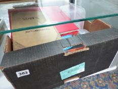 VARIOUS STAMP ALBUMS AND LOOSE STAMPS.