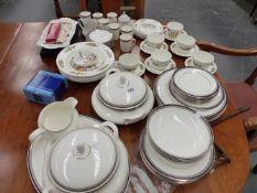 A ROYAL DOULTON SARABANDE DINNER SERVICE AND AN AYNSLEY ART TEA SERVICE,ETC