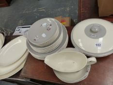 A ROYAL DOULTON FROST PINE DINNER SERVICE.