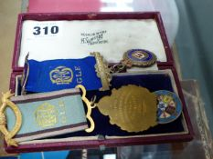 A SMALL SELECTION OF MEDALS.