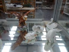 A LARGE BESWICK EAGLE TOGETHER WITH ROYAL COPENHAGEN ANIMAL FIGURES.
