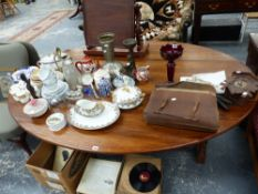 A LARGE COLLECTION OF CHINAWARE,ORNAMENTS, CUCKOO CLOCK,ETC.