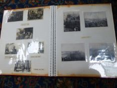 THREE PHOTOGRAPHIC ALBUMS MANY CONTAINING NAVAL PHOTOGRAPHS.