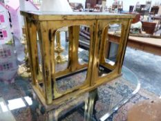 AN ORIENTAL LACQUERED STAND.