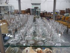 A SET OF DRINKING GLASSES, ETC.