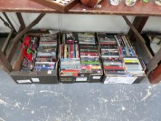 A LARGE QTY OF DVDS.