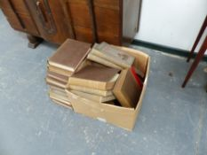A BOX OF BOOKS.