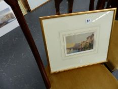 A SMALL 19th.C.SCHOOL WATERCOLOUR SIGNED /TITLED WHITBY?