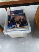 A LARGE QTY OF RECORD ALBUMS.