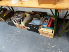 A QTY OF BOOKS, DVDS, CHINAWARE,ETC.