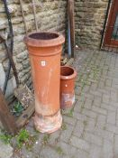TWO CHIMNEY POTS.
