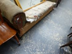A LATE VICTORIAN CHESTERFIELD SETTEE.