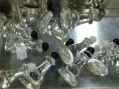 GLASS CHESS PIECES (11)