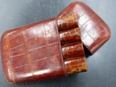 A LEATHER CIGAR CASE.