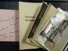 AN AUTOGRAPH ALBUM TOGETHER WITH VARIOUS SIGNED PHOTOGRAPHS, ETC.