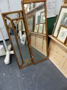 TWO GILT FRAMED MIRRORS.