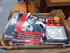 A QTY OF STAR TREK COLLECTABLES.