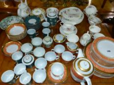 A ROYAL DOULTON PART TEA SERVICE AND VARIOUS OTHER DINER AND TEAWARES.