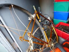 TWO RARE VINTAGE BIKE FRAMES WITH WHEELS.