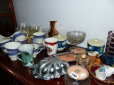 A QTY OF CHINA AND ORNAMENTS.