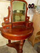 A VICTORIAN DUCHESSE DRESSING TABLE.