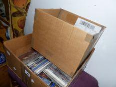 A BOX OF CDS,ETC.