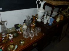 A LARGE QTY OF CHINA, GLASS AND PLATEDWARE,ETC
