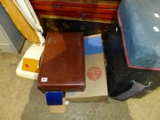 A QTY OF ASSORTED TO INCLUDE A FISHING STOOL.