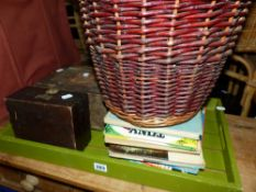 TWO BASKETS, A TRAY,ETC.