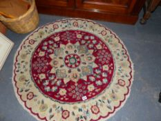 A SMALL CHINESE RUG.