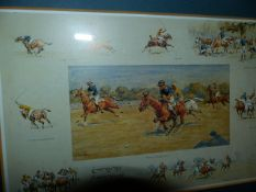 A LARGE QTY OF HUNTING AND SPORTING PRINTS.
