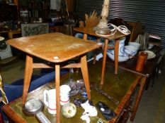 A PAIR OF OAK OCCASIONAL TABLES.