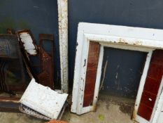 VARIOUS SECTIONAL CAST IRON FIRE SURROUNDS,ETC