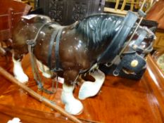 A HORSE AND CART FIGURE.
