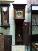 AN 18th.C.OAK CASED 30 HOUR LONG CASE CLOCK WITH BRASS DIAL SIGNED RICH.WEBB, HOOK NORTON. 9.5""