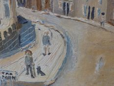 FRED YATES (1922-2008) (ARR) WAIT, ST.IVES, SIGNED OIL ON BOARD. 31 x 26cms.