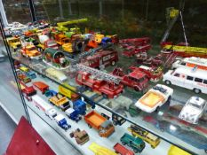 A COLLECTION OF MID TO LATE 20th.C.DIE CAST VEHICLES, UNBOXED AND PLAYWORN. (QTY).