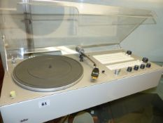 A RARE BRAUN AUDIO TC45 PHONO SUPER STEREO SYSTEM DESIGNED BY DIETER RAMS c.1965 FITTED WITH SME