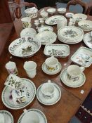 A COLLECTION OF PORTHMEIRION BOTANIC GARDEN DINNERWARE TO INCLUDE SERVING DISHES, PLATES, CUPS AND
