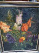 BORJE SANDBERG . SWEDISH (1908-1993) (ARR) STILL LIFE FLOWERS, OIL ON CANVAS SIGNED AND A DATED '34