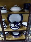 A ROYAL WORCESTER VENTURA PATTERN PART DINNER SERVICE TO INCLUDE SERVING PIECES, CUPS AND SAUCERS