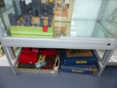 A HORNBY 0 GAUGE 101 TANK PASSENGER TRAIN SET, BOXED, A HORNBY 201 SET, BOXED AND VARIOUS ROLLING