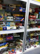 A LARGE COLLECTION OF CORGI, MATCHBOX AND OTHER DIE CAST VEHICLES, ALL BOXED TO INCLUDE MANY LIMITED