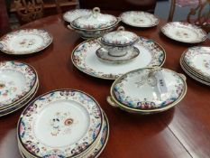 A VICTORIAN OUDE PATTERN PART DINNER SERVICE TO INCLUDE COVERED SERVING DISHES, MEAT PLATE,ETC.