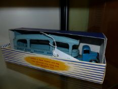 A DINKY 982 PULMORE CAR TRANSPORTER IN CARD BOX.